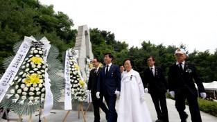 논산시, 강산동 충령탑서 현충일 추념식 거행