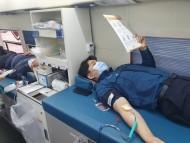 [포토뉴스] 코로나19 위기 극복 위한 헌혈에 나선 '논산 경찰'